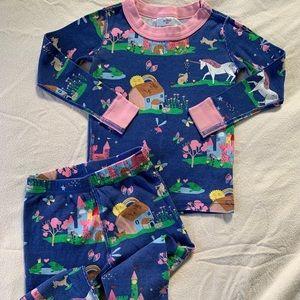 Hanna Andersson 90 3T Pajamas Fairy Tale Unicorn